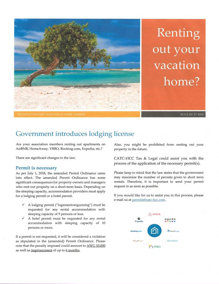 Owners who rent new lodging license needed-aruba-jpg